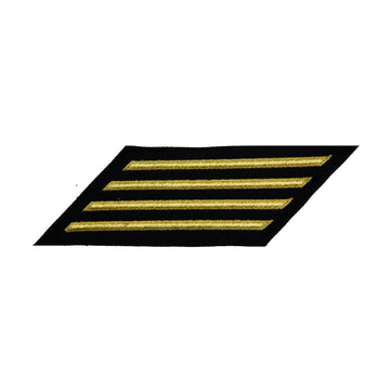 NAVY Women's Service Stripes: 4 Stripes - Gold & Blue Poly Wool