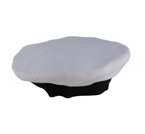 NAVY White CNT Cover for Dress Cap