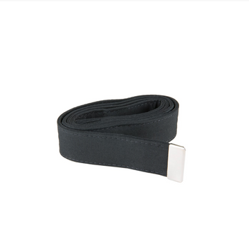 NAVY Men's Black Poly/Wool Belt - Silver Tip