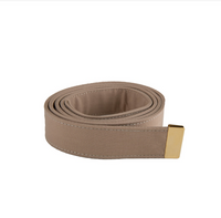 AS-IS NAVY Men's Khaki Poly/Wool Belt - Gold Tip