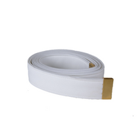 AS-IS NAVY Men's White CNT Belt - Gold Tip