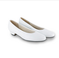 "NAVY Women's Dress White Leather 1 1/4"" Pump"