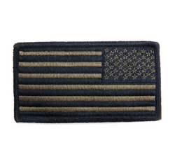 NAVY NWU Type III Embroidered Green Large Shoulder Patch Reverse Field American Flag on Velcro