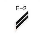 NAVY E2 & E3 (MC) Combination Rating Badge: Mass Communications Specialist - White