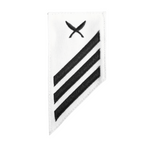 NAVY E2 & E3 (YN) Combination Rating Badge: Yeoman- White