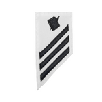 NAVY E2 & E3 (PS) Combination Rating Badge: Personnel Specialist - White