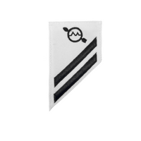 NAVY E2 & E3 (OS) Combination Rating Badge: Operations Specialist - White