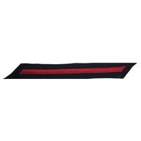NAVY Women's Service Stripes: 1 Stripes - Red & Blue Serge Wool