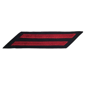 NAVY Men's Service Stripes Enlisted: 2 Stripes - Red & Blue Serge Wool