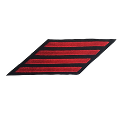 NAVY Men's Service Stripes Enlisted: 4 Stripes - Red & Blue Serge Wool