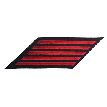 NAVY Women's Service Stripes: 5 Stripes - Red & Blue Poly Wool
