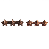 Navy Ribbon Attachment - 3 Bronze Star's 3/16""