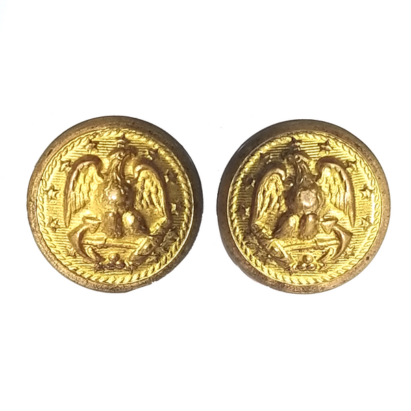 NAVY Gold Button - Screw on Cap Button With Tube