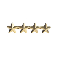 Navy Ribbon Attachment - 4 Gold Star's 5/16""