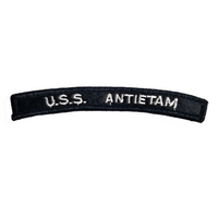 NAVY U.S.S. Antietam Boat Rocker Patch