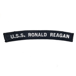 NAVY U.S.S. Ronald Reagan Boat Rocker Patch