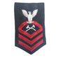 NAVY Men's (E7) Chief Petty Officer Rating Badge - Damage Controlman
