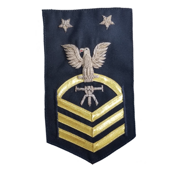 NAVY Men's (E7) Chief Petty Officer Bullion Rating Badge - Fire Control Technician