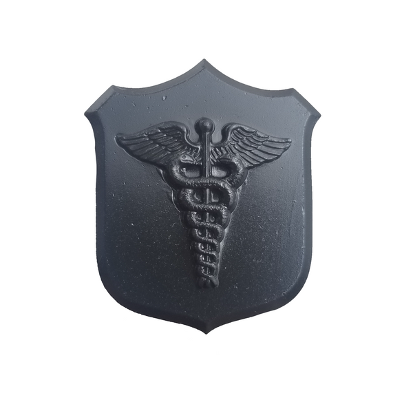 NAVY Black Metal Finish Collar Device - Hospital Corpsman