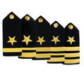 NAVY Men's O1-O6 Hard Shoulder Board: Line Officer