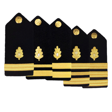 NAVY Men's O1-O6 Hard Shoulder Board: Medical Corp