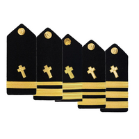 NAVY AS-IS Men's O1-O6 Hard Shoulder Board: Christian Chaplain