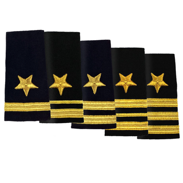 NAVY O1-O6 Soft Shoulder Board: Line Officer
