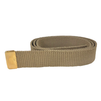 NAVY Women's Khaki Cotton Belt - Gold Tip