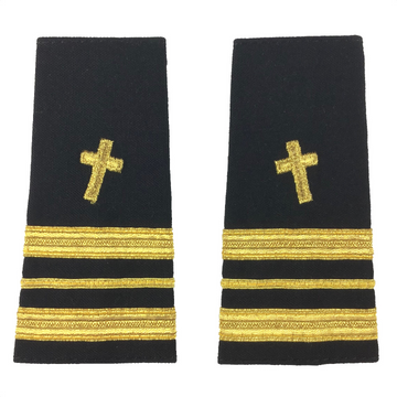 NAVY O1-O6 Soft Shoulder Board: Christian Chaplain