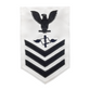 NAVY Men's E4-E6 (AZ) Rating Badge: Aviation Maintenance Administrationman - White