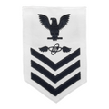 NAVY Men's E4-E6 (AT) Rating Badge: Aviation Electronics Technician - White