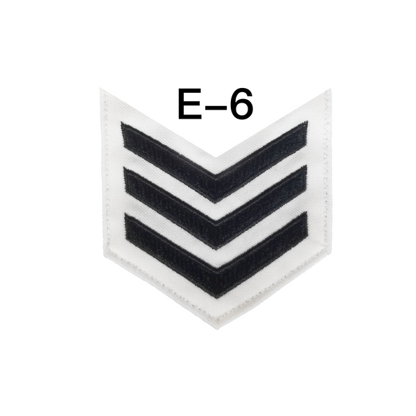NAVY Men's E4-E6 (LN) Rating Badge: Legalman - White