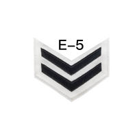 NAVY Men's E4-E6 (RP) Rating Badge: Religious Program Specialist - White