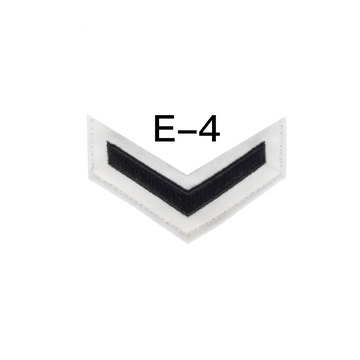 NAVY Men's E4-E6 (FC) Rating Badge: Fire Controlman - White