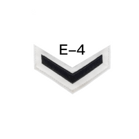 NAVY Women's E4-E6 (LS) Rating Badge: Logistic Specialist - White