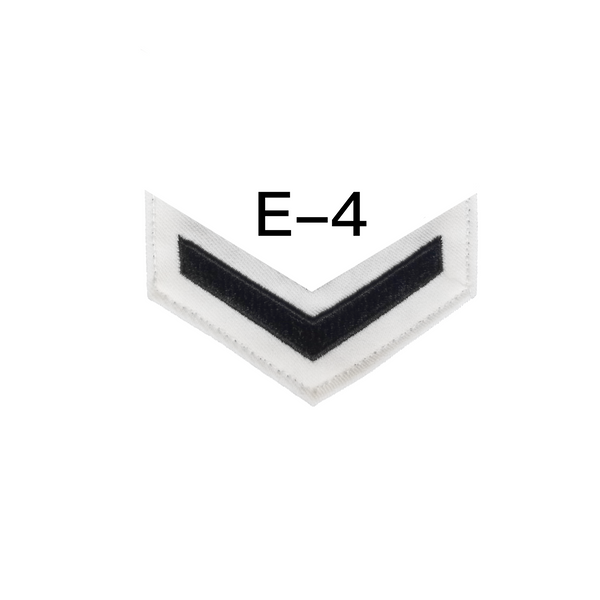 NAVY Women's E4-E6 (MU) Rating Badge: Musician - White