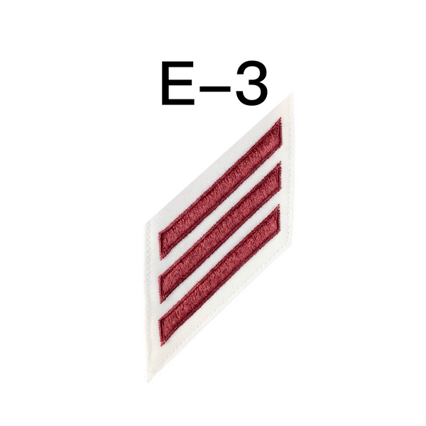 NAVY E2 & E3 (EN) Combination Rating Badge: Engineman - White