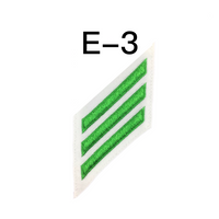 NAVY E2 & E3 (AS) Combination Rating Badge: Aviation Support Equipment Technician - White