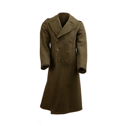 ARMY WWII US Men's Olive Green Trench Wool Coat