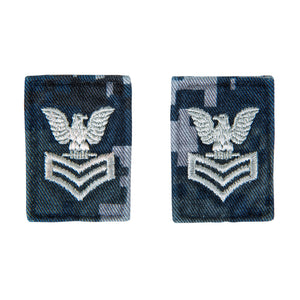 U.S. Navy Collar Device - E6 First Class - NWU Type 1 - Set of 2