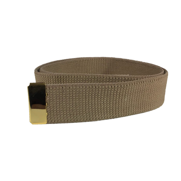 NAVY Men's Khaki Cotton Belt - Gold Tip