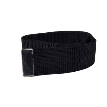 NAVY Men's Black Nylon Belt - Silver Tip