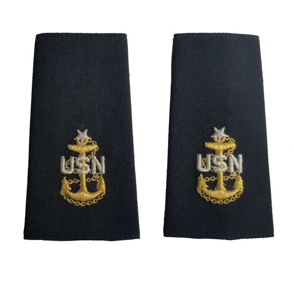 NAVY E7-E9 Soft Shoulder Board: Chief