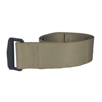 AS-IS NAVY Tan Rigger Belt with Black D-Ring Buckle