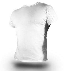 AS-IS NAVY Undershirt - White