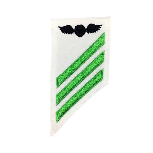 NAVY E2 & E3 (AE) Combination Rating Badge: Aviations Electricians Mate - White