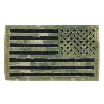 NAVY NWU Type-III Flag Reversed Field Fabric Green Shoulder Patch on Velcro