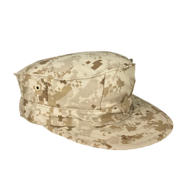 AS-IS USMC MARPAT Desert 8 Point Hat - No Insignia