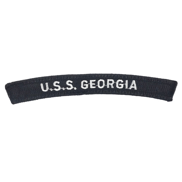 NAVY U.S.S. Georgia Boat Rocker Patch