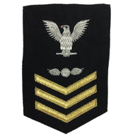 NAVY Women's (E6) Rating Badge for Aviation Electrician's Mate - 3 Chevrons